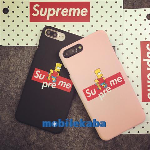 iPhone8 ケース supreme シンプソンズ