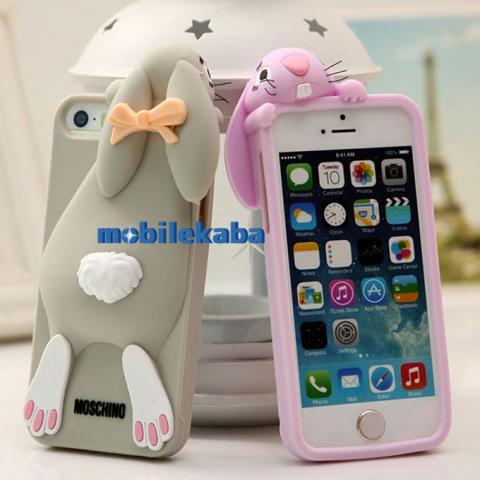 iPhoneX iPhone8 ケース モスキーノ 兎 ウサギ シリコン
