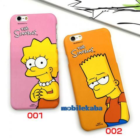 iPhoneX iPhone8 ケース シンプソンズ カップル