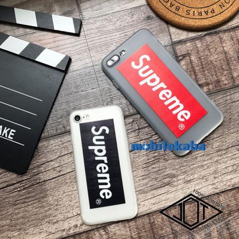 iPhoneX iPhone8 ケース シュプリーム supreme クリア