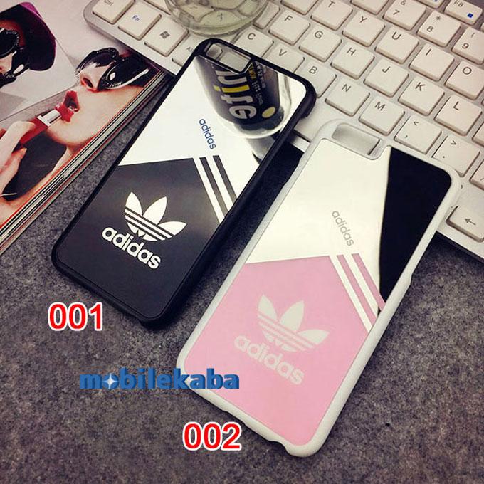 運動風iPhone8ケース アディダスAdidas カップル クール カッコイイ 鏡面iPhoneX/8/iPhone7plus アディダス