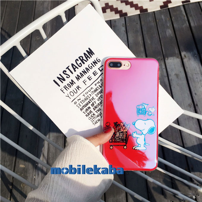 iPhone8 ケース Snoopy