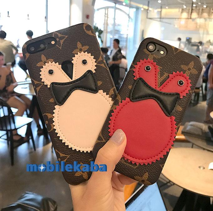 ペンギンルイヴィトンiPhoneX/8/7Plus/6s iPhone8 iPhone7s ケース