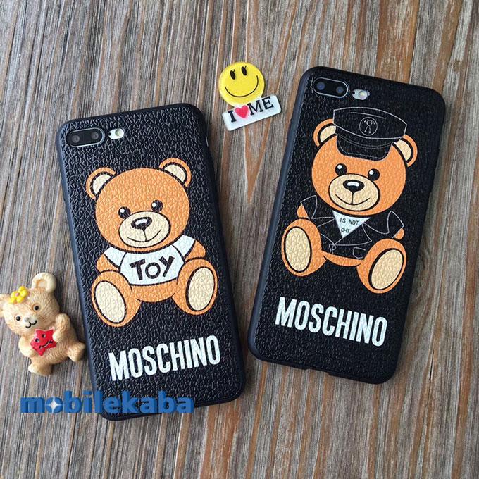 熊モスキーノ人気アイフォンX/8/7/7Plus/6sケース クマ カップル iPhone7sペア