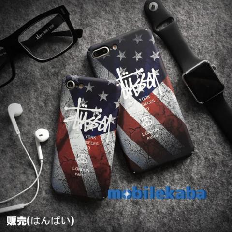 アメリカ iPhoneX iPhone8 ケース ステューシー