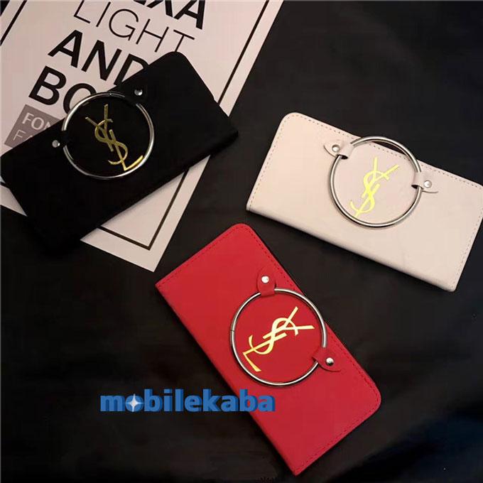 ファッション 流行YSLサンローランiPhoneX/8Plus/7 女子力 手帳型 カバー