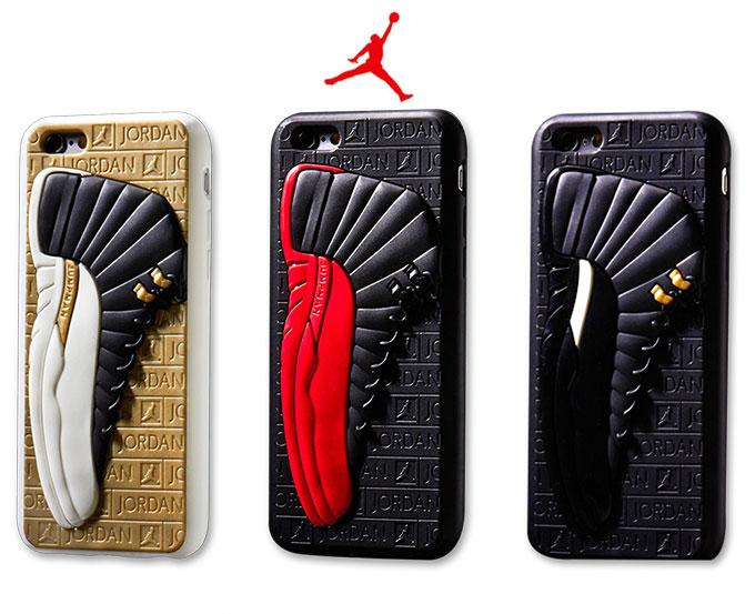運動風 エアジョーダン Air Jordan 12 スニーカー 靴 3D立体感スニーカーiPhoneX/iPhone8/7/6sケース 個性 カッコイイ よい配色 iPhoneX iPhone8 iPhone7 ケース