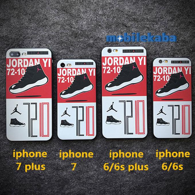 欧米風 バスケ ブランド エアジョーダン Air Jordan 7210 スニーカー 赤白配色 カッコイイ カップルスニーカーiPhoneX/iPhone8/7/6sケース 恋人 個性 iPhoneX iPhone8 iPhone7 ケース