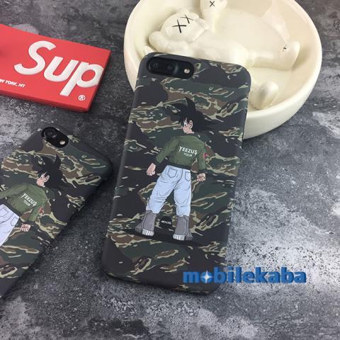 iPhone8ケース ドラゴンボール 迷彩 孫悟空
