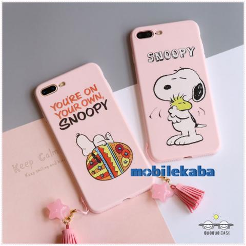 ピンク iPhoneX iPhone8 ケース スヌーピー