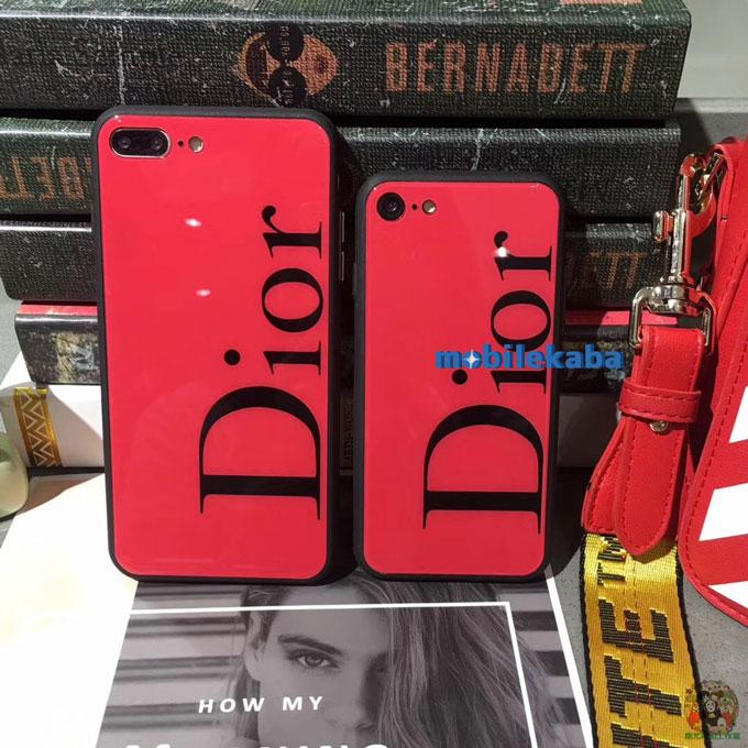 ディオール Dior ブランド 強化ガラス ファッション シック 流行 ディオール iPhoneX iPhone8 ケース Dior ブランド女子向け 薄い iPhoneX iPhone8 iPhone7 ケース