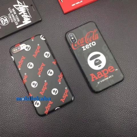ブランド コラボ Aape iPhoneX ケース