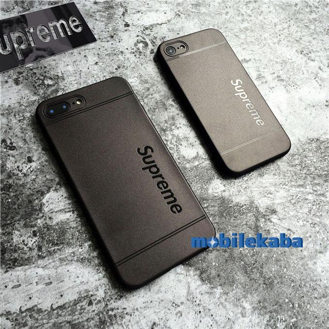 真っ黒 ブラック カッコイイ 個性 ブランド supreme シュプリーム シリコン シンプルシュプリームiPhoneX/8/7 Plus/6sケース iPhoneX iPhone8 iPhone7 ケース