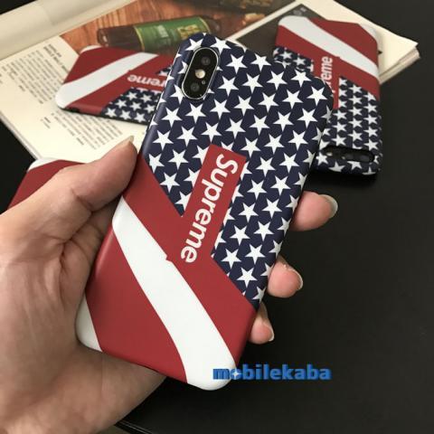 iPhoneX iPhone8 ケース スター シュプリーム 星柄