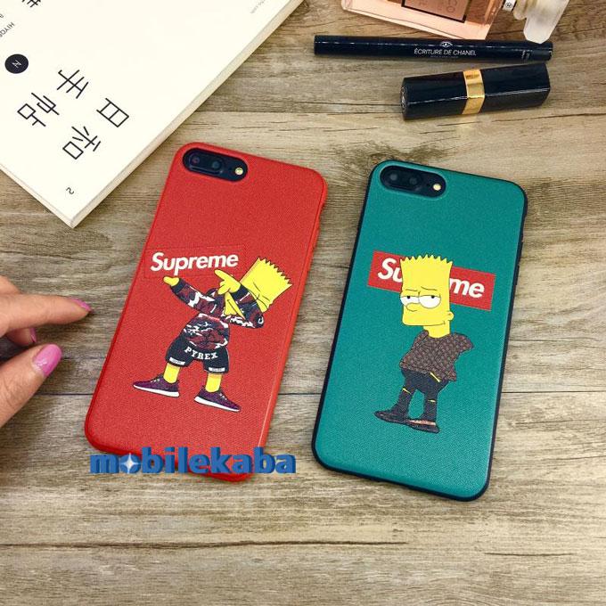面白い ブランド シュプリーム supreme アニメ シンプソンズシュプリームSUPREMEコラボiPhoneX/iPhone8/7Plus/6sケース