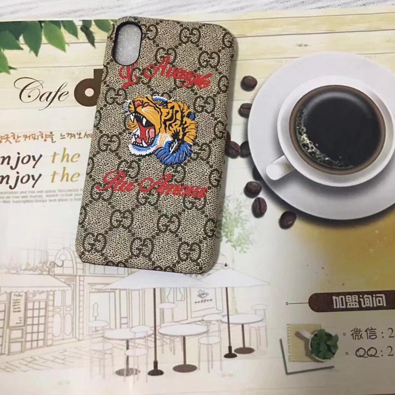 グッチ アイフォン8/Xケース レザー gucci iphone8 plus 衝撃 カバー レディース
