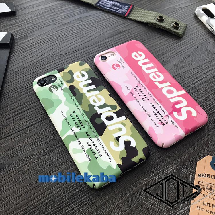 迷彩柄iphone76splusシュプリームiphone8/8plusカバーSupreme