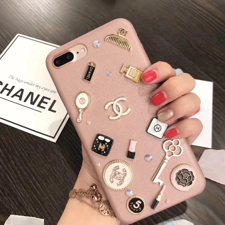 iphone8/6s ケース ブランドTPU素材ソフトChanelシャネル女子力高い8Plus/7アイフォン6splus化粧品コスメ小道具アクセサリー飾り付け携帯カバーiPhone7/7plusジャケット上品