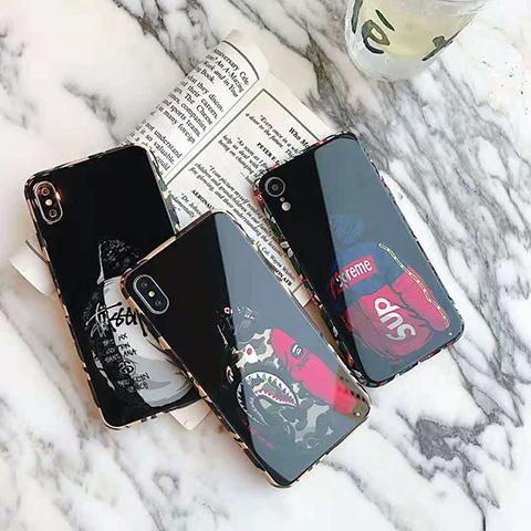 e650053e56 SUPREME/STUSSY iPhoneXR/XS/XS Maxケース 鏡面 ストリート風 おしゃれ ...