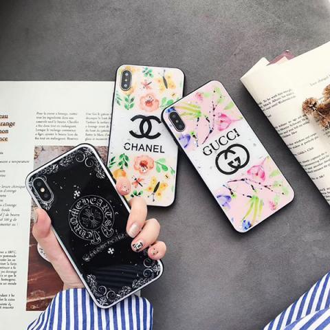 """グッチ iPhone xs maxケース オシャレ ブランド レディース向け chanel アイフォンxs/xrケース クロムハーツ iphone xs maxカバー Gucci アイフォン xr/xsケース 花柄 é?æ–™ç""""¡æ–™"""