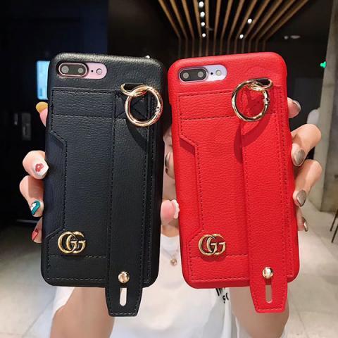 "Gucci iphone xs maxケース レディス向け アイフォン xr/xsケース Gucci ブランド グッチ iphone xカバー 革製 アイフォン 7/8plusケース グッチ バンド付き é?æ–™ç""¡æ–™"