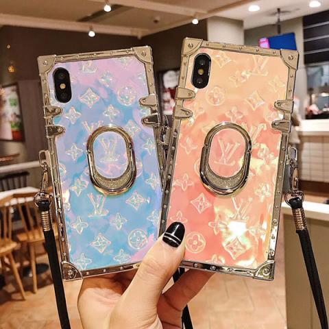 人気 ブランド ルイヴィトン iphone 11/11pro/XSケース ネックストラップ付き レディス LV iphone xs max/xrカバー モノグラム おしゃれ ヴィトン iphone x/8ケース 芸能人愛用