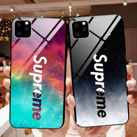 ブランド シュプリーム アイフォン11pro max/11ケース ペア IPHONE 11Proケース Supreme iphone XS MAX/xsケース ガラスケース カコイイ iPhone XRã'«ãƒãƒ¼