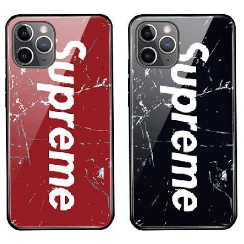 Supreme IPHONE11 Proケース オシャレ アイフォン11/11pro Maxカバー 人気 シュプリーム Iphone Xs Max/xsケース ガラス製 メンズ レディス SUPREME アイフォンxr/x/8カバー