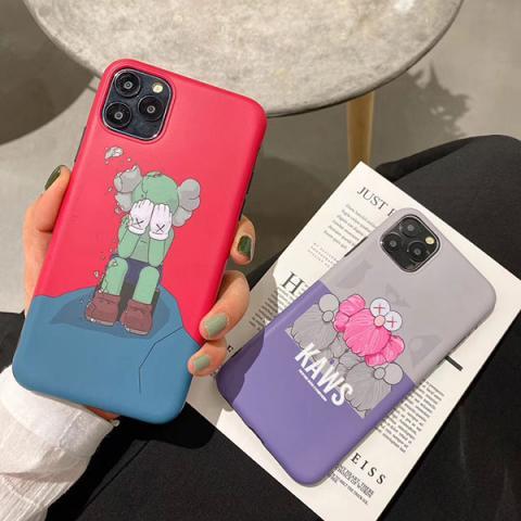 カウズ アイフォン11ケース 可愛い iPhone 11Pro/11pro maxケース Kaws IPHONE XS MAX/XSカバー 女性向け アイフォン xr/x携帯ケース 人気