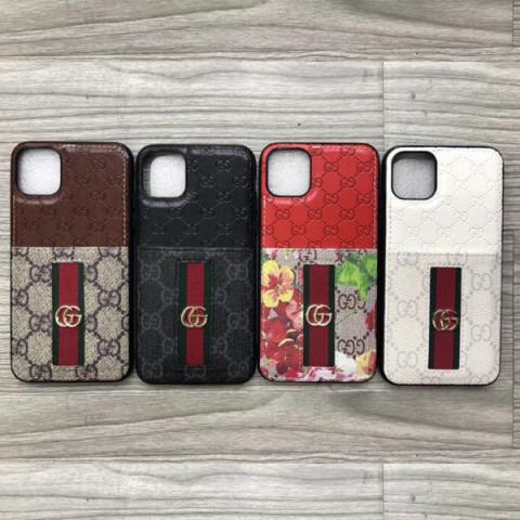 グッチ アイフォン11pro maxケース レディス向け ブランド iphone11/11proケース gucci iphone xs max/xsカバー カードポケット アイフォンX/XRケース 軽量