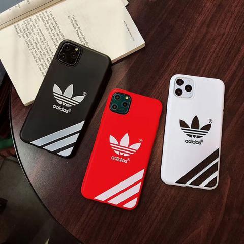 Adidas iPhone 11pro maxケース 人気 ブランド アディダス アイフォン11/11Pro保護ケース adidas アイフォンXS MAX/Xs/xr/x携帯カバー ペア揃い 送料無料