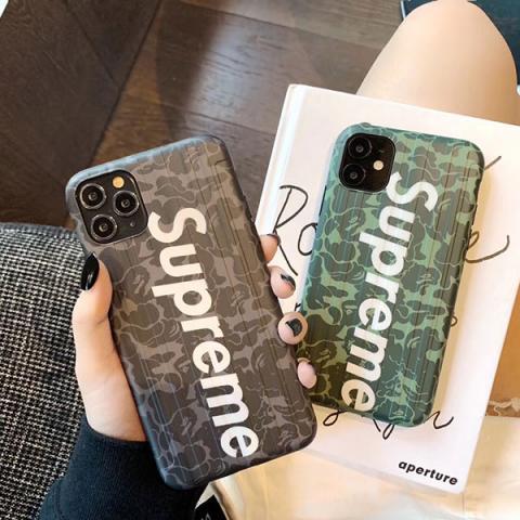 シュプリーム アイフォン11/11proケース 迷彩柄 supreme iphone 11pro max/xs maxケース かっこいい アイフォンXS/XR/X保護カバー シュプリーム 人気 個性 送料無料