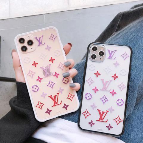 LV iphone 11Pro maxクリアケース モノグラム柄 可愛い ルイヴィトン アイフォン11/11Proケース レディス向け オシャレ iPhone xs max/xr/xs/x保護カバー 大人気 送料無料