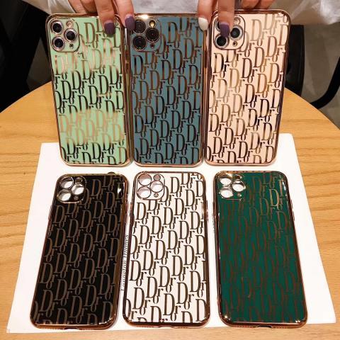 ディオール iphone 11/11Proケース レディス愛用 オシャレ dior アイフォン11Pro MAX/SEカバー キラキラ Dior iPhone XS/XR/XS MAX/Xケース メッキ 6色可選択 ファッション 全保護 送
