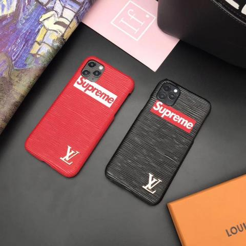 シュプリーム lv コラボ iPhone 11Pro Max/SEケース 男女兼用 ブランド シュプリーム アイフォン11/11Proケース ジャケット型 LV iPhone Xs Max/xs/xr/Xケース アイフォン 7/8ペアケース